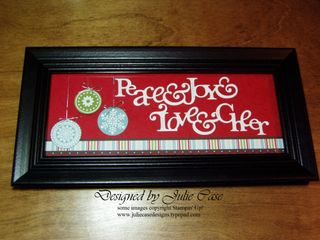 Peace&Joy frame black&red