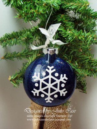 Glass Ornament Blue Glitter Vinyl