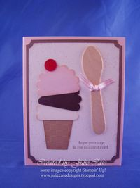 Neopolitan Ice Cream cone