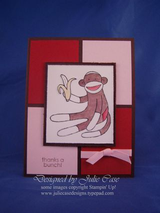 Sock Monkey color block